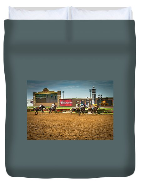 Lone Star Park Grand Prairie Texas Duvet Cover
