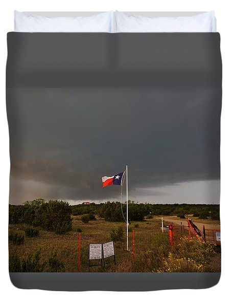 Lone Star Supercell Duvet Cover