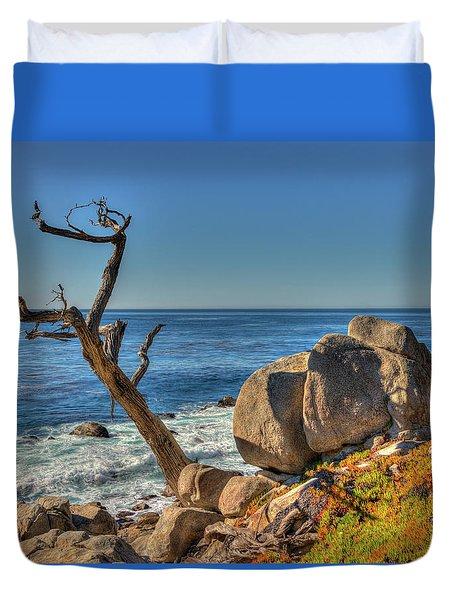 Lone Tree California Coast Duvet Cover by James Hammond