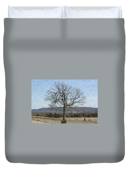 Lone Tree Duvet Cover by Donna G Smith