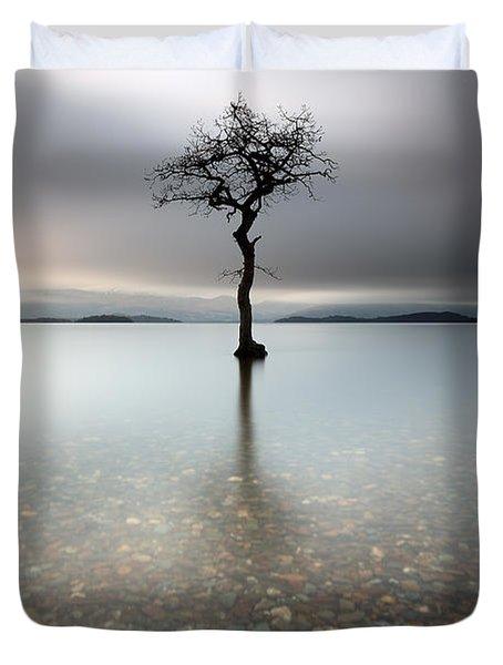 Lone Tree Loch Lomond Duvet Cover
