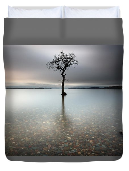 Lone Tree Loch Lomond Duvet Cover