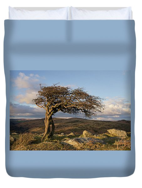 Lone Tree On Dartmoor Duvet Cover