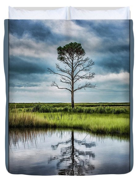 Lone Tree Reflected Duvet Cover