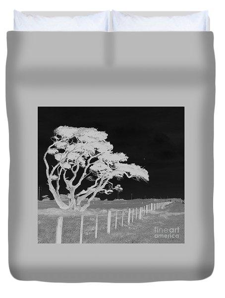 Lone Tree, West Coast Duvet Cover by Nareeta Martin