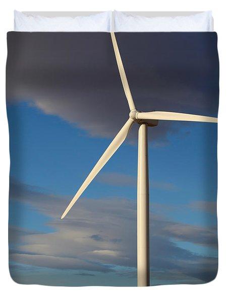 Lone Turbine Duvet Cover