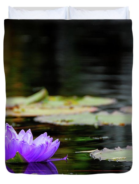 Lone Water Lilly Duvet Cover