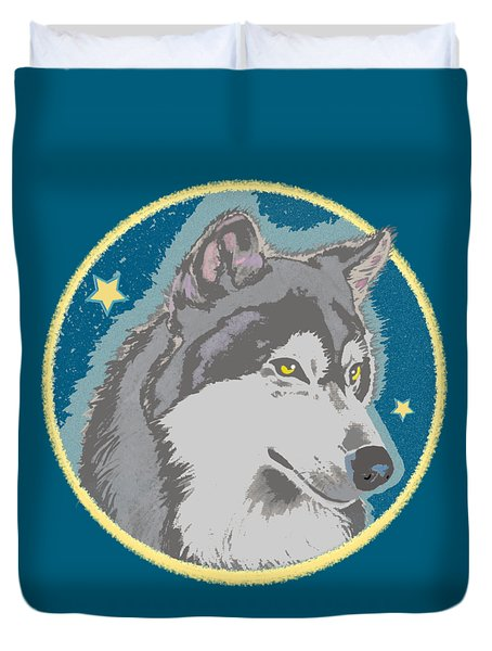 Lone Wolf Duvet Cover
