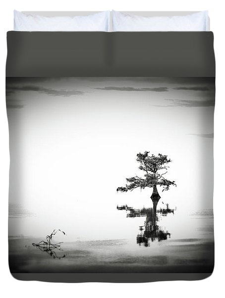 Duvet Cover featuring the photograph Loneliness by Eduard Moldoveanu