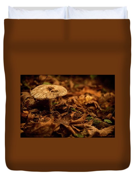 Lonely But Fungi Duvet Cover