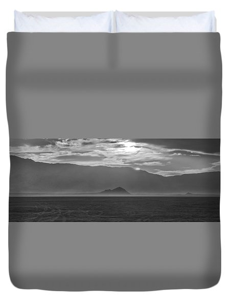 Lonely Child Lost In The Desert Duvet Cover