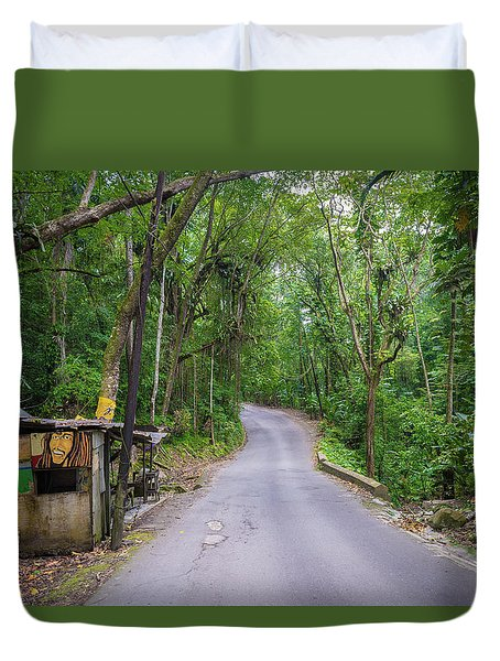 Lonely Country Road Duvet Cover