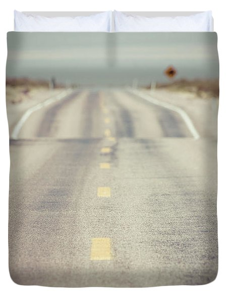 Lonely Desert Highway Road Duvet Cover