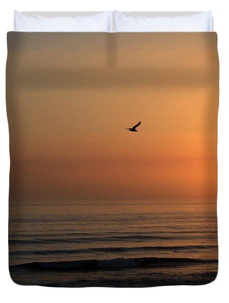 Lonely Flight Duvet Cover by Andrei Shliakhau