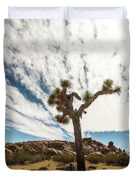Lonely Joshua Tree Duvet Cover by Amyn Nasser
