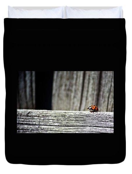 Lonely Ladybug Duvet Cover