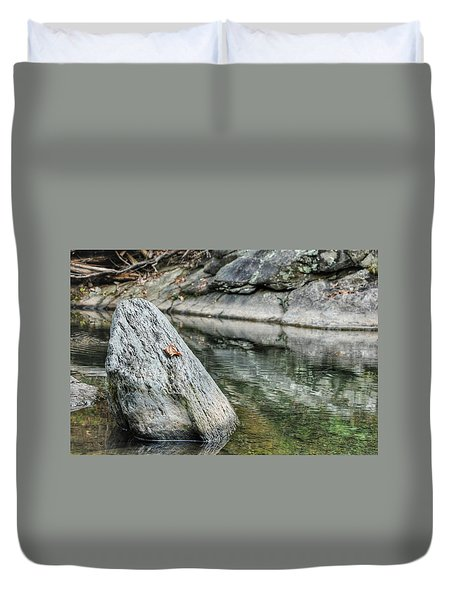 Lonely Leaf Duvet Cover