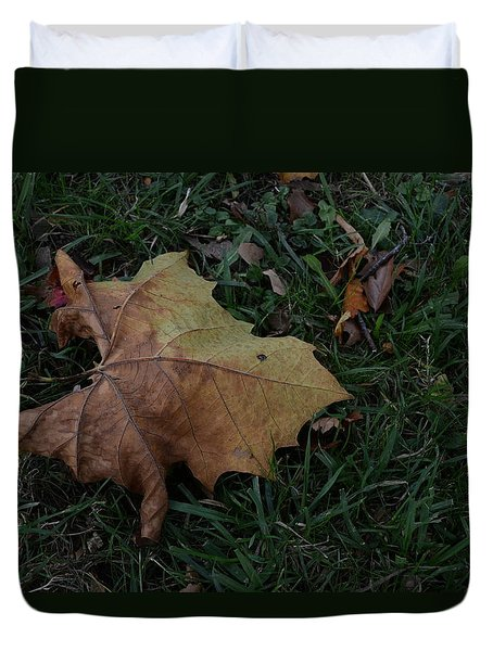 Duvet Cover featuring the photograph Lonely Leaf by Richard Ricci