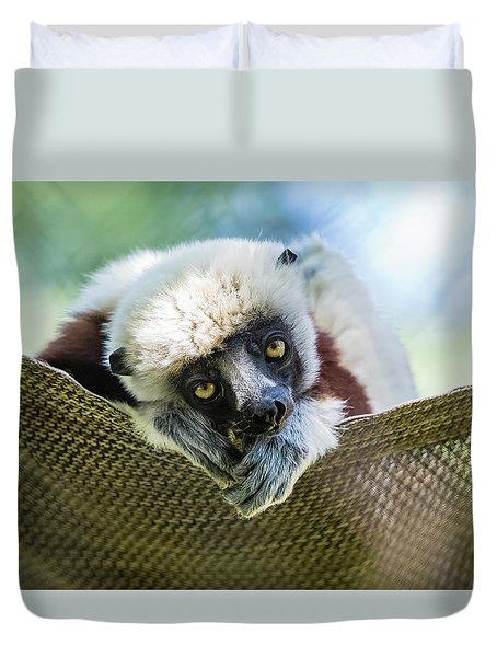 Lonely Lemur Duvet Cover