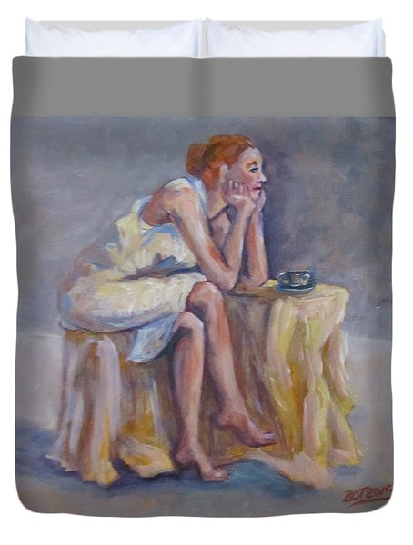 Lonely Mornings Duvet Cover by Barbara O'Toole