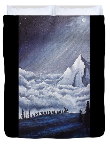 Lonely Mountain Duvet Cover by Dan Wagner
