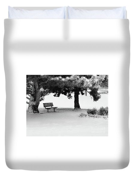 Lonely Park Bench Duvet Cover