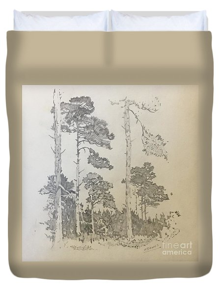 Lonely Pines Duvet Cover