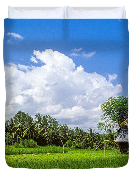 Lonely Rice Hut Duvet Cover