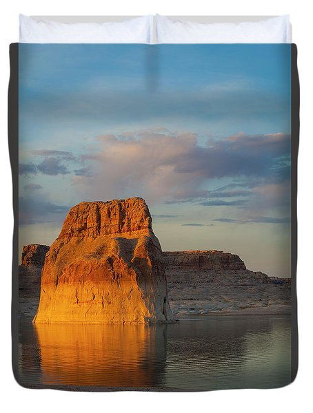 Lonely Rock Duvet Cover by David Cote