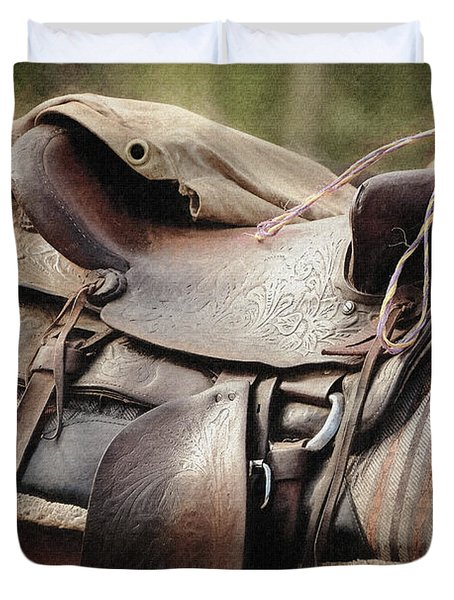 Lonely Saddle  Duvet Cover
