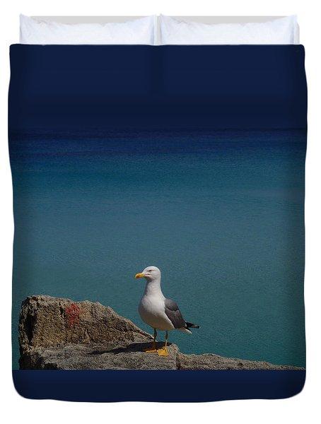 Lonely Seagull Duvet Cover