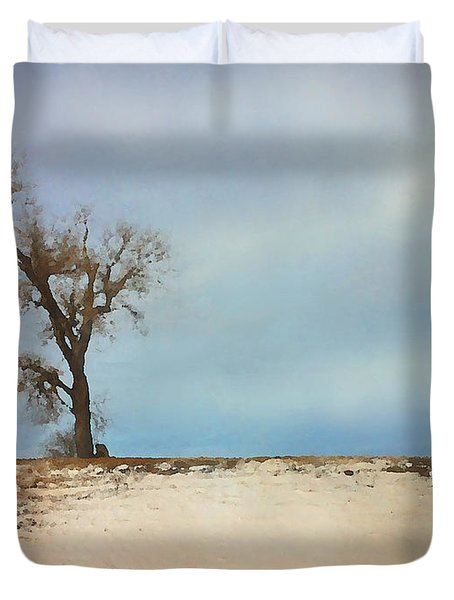 Lonely Sentinel  Duvet Cover