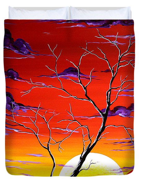 Lonely Soul By Madart Duvet Cover by Megan Duncanson