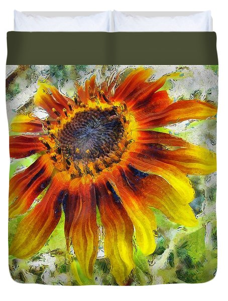 Lonely Sunflower Duvet Cover