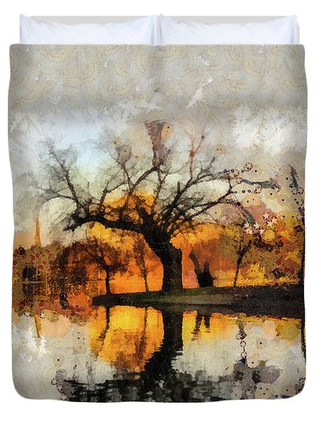 Lonely Tree And Its Thoughts Duvet Cover