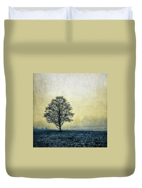 Duvet Cover featuring the photograph Lonely Tree by Marion McCristall