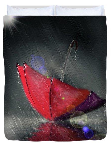 Lonely Umbrella Duvet Cover