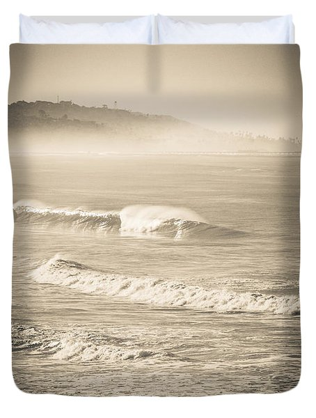 Lonely Winter Waves Duvet Cover