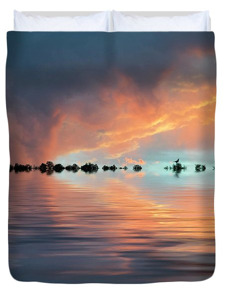 Lonesome Bird Duvet Cover by Jerry McElroy
