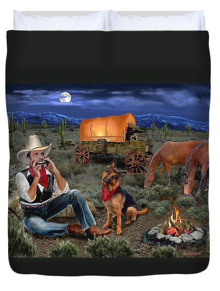 Lonesome Cowboy Duvet Cover