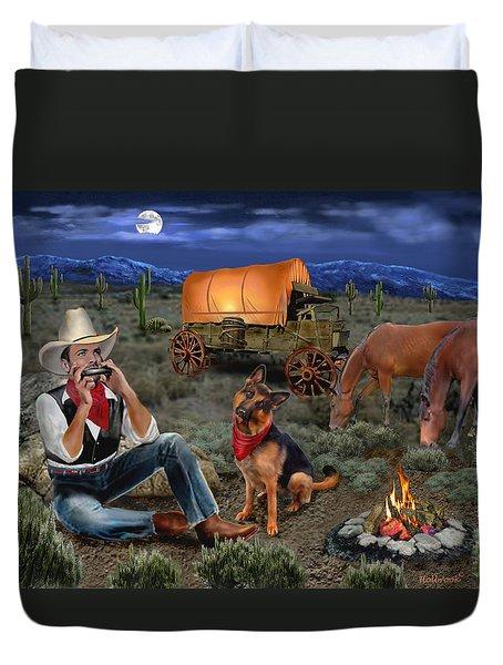 Lonesome Cowboy Duvet Cover by Glenn Holbrook