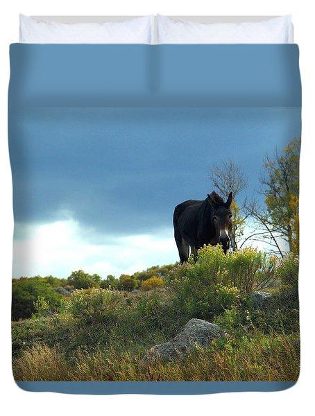 Lonesome Donkey Duvet Cover