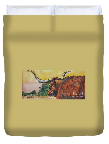 Lonesome Longhorn Duvet Cover