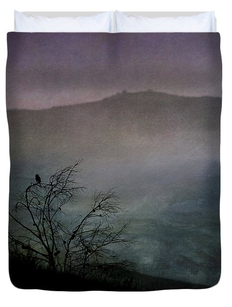 Duvet Cover featuring the digital art Lonesome Point by Nicole Wilde