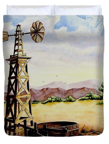 Lonesome Prairie Duvet Cover
