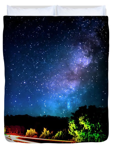 Lonesome Texas Highway Duvet Cover