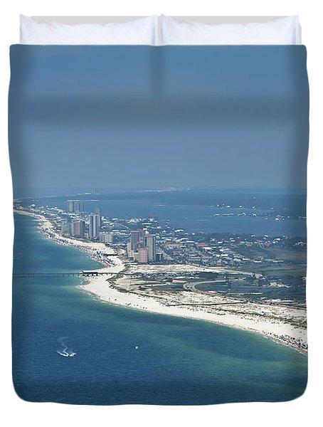 Long, Aerial, Beach View Duvet Cover