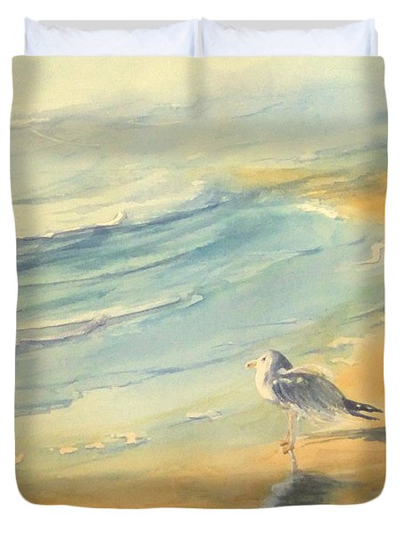 Long Beach Bird Duvet Cover