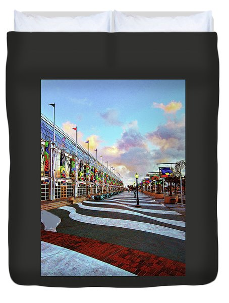 Long Beach Convention Center Duvet Cover