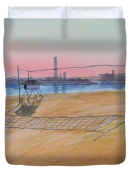 Long Beach Icons Duvet Cover